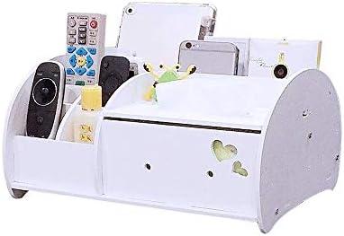 Hqqgwt Desktop Taschentuchbox Fernbedienung Aufbewahrungsbox Holz Haushalt Einfache und schöne Mehrzweck-Tablett für Wohnzimmer, Couchtisch Organizer Halter