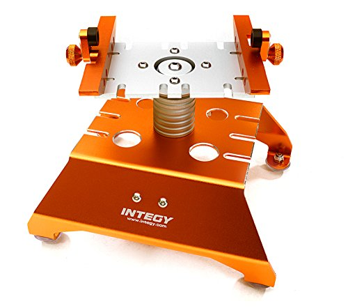 Integy RC Model Hop-ups C27651ORANGE Alloy Car Stand Workstation for Axial 1/10 SCX-10, RR10 Bomber & (Car Hop Stand)