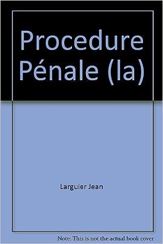 Livre Procedure Pénale (la) epub, pdf