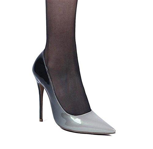 Hohen Absätzen mit Einzelne XIE Women's Spitze Schuhe Zehe Lackleder qwnxxSZBX