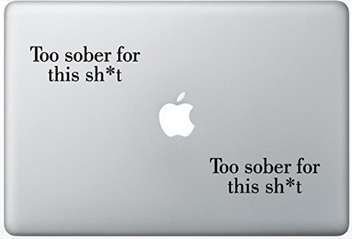 Sht Set (Too Sober For This Sht Parody Funny LeporeDecals0385 Set Of Two (2x) , Decal , Sticker , Laptop , Ipad , Car , Truck)