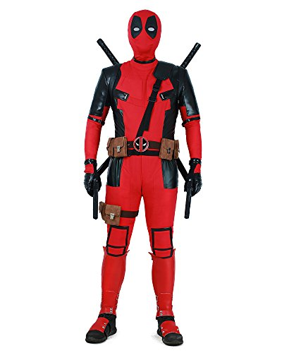 Miccostumes Deluxe Men's Deadpool Costume for Guys Halloween Cosplay Deal (Large Image)