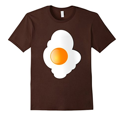 [Men's Fried Egg T Shirt Matching Couples Bacon and Eggs Shirts 3XL Brown] (Bacon And Egg Halloween Costume)