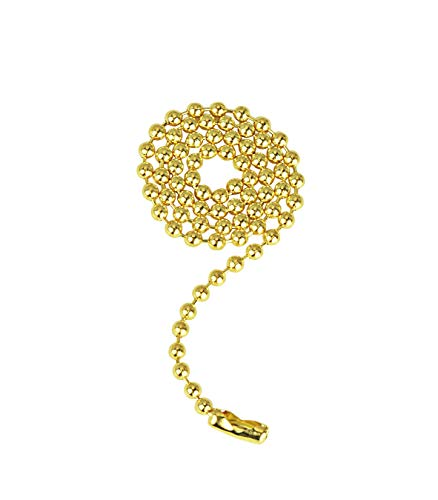 Polished Brass Pull Chain - Aspen Creative 21317 1-Foot Beaded Connector in Polished Brass Pull Chain,
