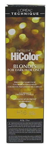 Loreal Excel Hicolor H16 Tube Honey Blonde 1.74oz (2 Pack)