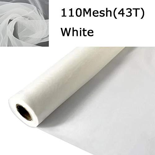 3 Yards 1.27 Meters Silk Screen Printing Fabric Mesh Screen Printing Mesh Wide High Tension Mesh Making Ink Supplies (110 Mesh(43T))