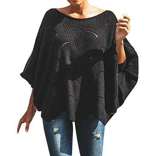 Keliay Fashion Womens Off The Shoulder Sweater Casual Knitted Loose Long Sleeve Pullover