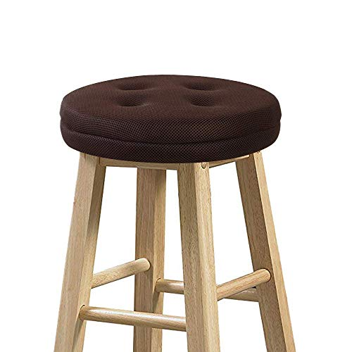"baibu Bar Stool Cushions, Super Breathable Round Bar Stool Cover Seat Cushion Brown 12"" - Cushion Only"