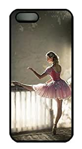 Rubber Back and DIY Case Cover For iPhone 5C Custom Soft TPU Single Shell Skin For iPhone 5C-Classical Ballet Painting