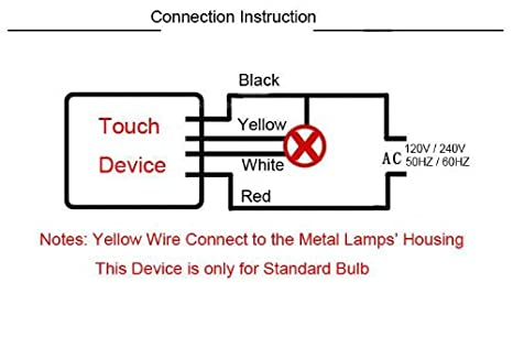 41%2BP5MOKRGL._SX466_ bqlzr touch lamp desk light 3 way sensor switch dimmer repair ac touch lamp wiring diagram at reclaimingppi.co