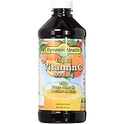 Dynamic Health 1000Mg Liquid Vitamin C Tablets, 3 Count