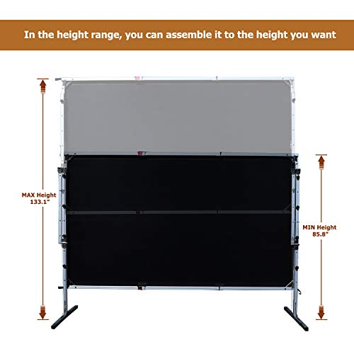 Outdoor Indoor Projector Screen with Stand, 144 inch HD Foldable Portable Projector Screen, 8K 4K 3D 16:9 Projection Movie Screen for Home Theater Camping Recreational Events, Waterproof, Anti-Crease by Stamo (Image #6)