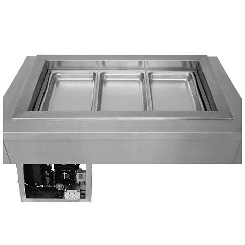 Drop In Unit 3 Pan (Wells RCP-7400ST Drop-In Slope Top Refrigerated Cold Food Well Unit with (4) 12