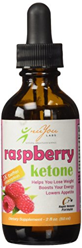 nuYou Labs Raspberry Ketone Drops with Rapid Release Fat-Burning Raspbery Ultra Drops Formula - Pure 100% Natural Raspberry Ketones - Gluten Free - 2 oz Bottle