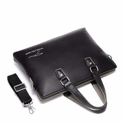 ZHUDJ Metrosexual Fashion Airline Bag Bag Brief Brief Business Men V. British Style Handbag Crossbody Bag, Blue
