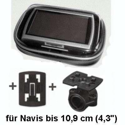 XiRRiX GPS Bikerset 1 Motorradtasche Navi Biker Set Universal Fahrrad+Motorrad Halterung inkl. Tasche, Outdoor-Tasche für Nav