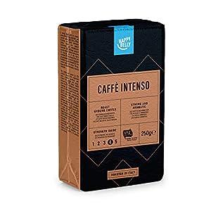 """Marchio Amazon - Happy Belly Caffè tostato macinato """"Caffè Intenso"""" (4 x 250g)"""