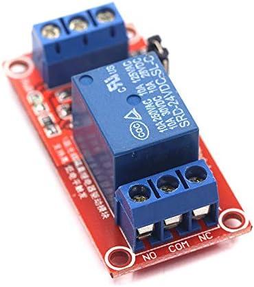 ZHITING Lot de 6 modules de relais 12 V 1 canal avec support disolation optocoupleur d/éclencheur haut ou bas niveau