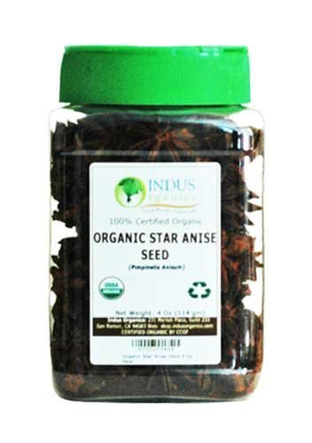 Indus Organics Star Anise, 8 Oz (2 Jar 4 Oz), Premium Grade, Hand Selected, Freshly Packed
