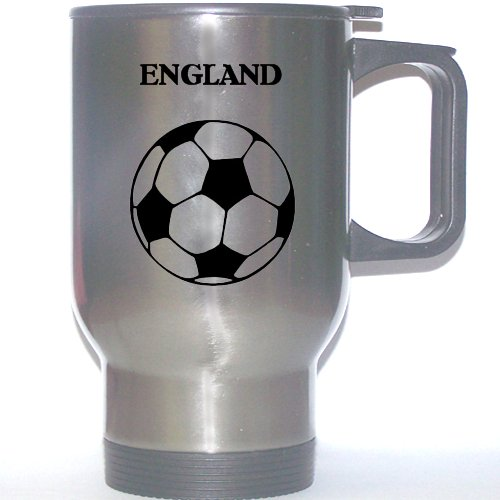 English Soccer Stainless Steel Mug - England by Custom Image Factory