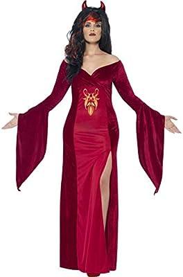 Halloween enia – Disfraz de Mujer Curvo diablesa con Cuernos ...