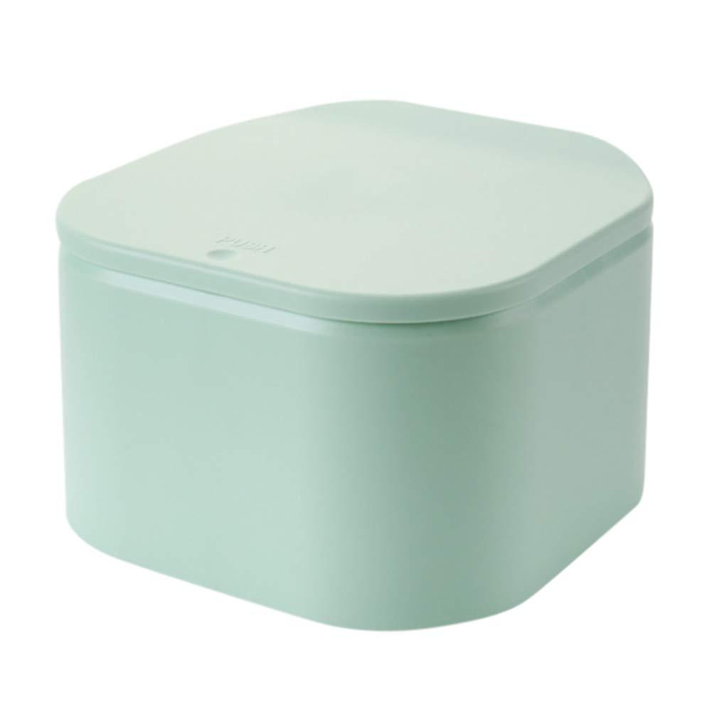 Etopfashion Cubos de basura tipo prensa para el hogar de Etopfashion para fundas de escritorio tipo resortes con tapa peque/ña papelera de basura
