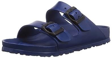 Birkenstock Unisex Arizona EVA Dual Buckle Sandals, Navy - 36 N EU