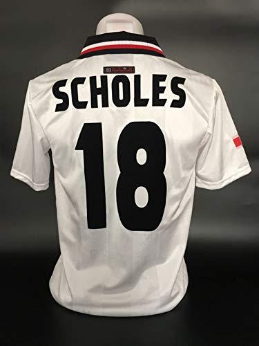 finest selection a2001 a722c Amazon.com : Retro Paul Scholes#18 Manchester United Sharp ...