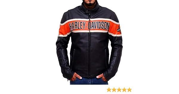 Chaqueta de Cuero para Hombre Harley Davidson- Chaqueta de Cuero