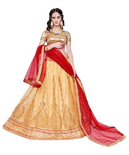 IWS Indian Women Designer Wedding Golden Lehenga Choli R-16511