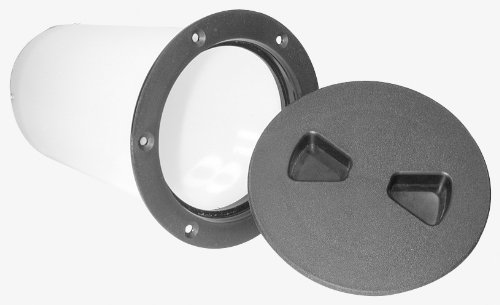 4 Polar White T-H Marine DPS-4-2-DP Sure-Seal Screw Out Deck Plate