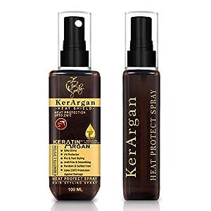 Just Peachy KerArgan Keratin Argan Oil Vitamin E Heat Protect Hair Styling Spray (100 mL)
