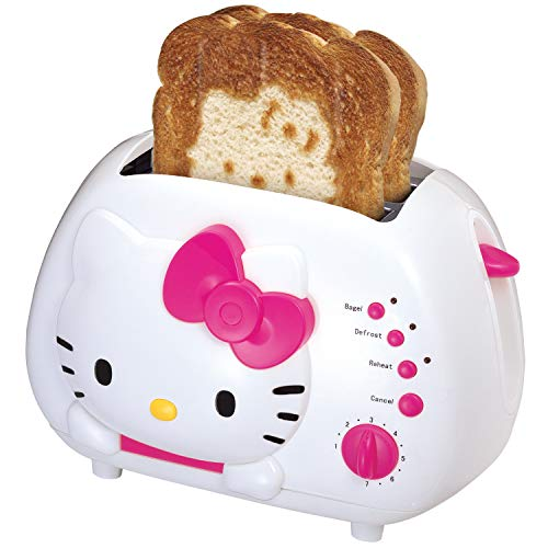 Hello Kitty 2-Slice Wide Slot Toaster With Cool Touch Exterior (Hello Kitty Rice Cooker)