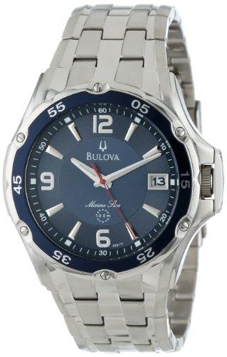 Bulova Men's 98B111 Marine Star Stainless Steel Bracelet Blue Dial Watch ()