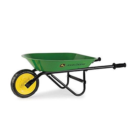 John Deere Green Steel Children's Wheel Barrow