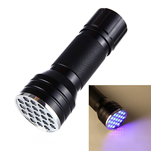 ht Portable Lamp for Spotting Scorpions and Bed Bugs Counterfeits A/C Leaks Pet Stains Counterfeit Money Detector 21 LED UV Ultra Violet Blacklight Pocket Flashlight (Micro Jet Pocket Torch)