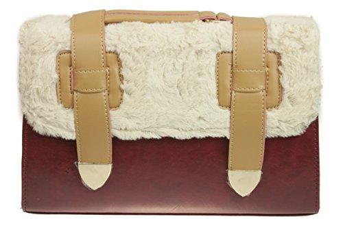 Diseñador Moda Piel Hombro Granate Hebilla Girly Cuero Cartera Handbags Bolsa De Imitación Mensajero UZnPqzBfOW