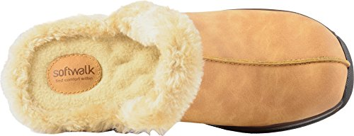 SoftWalk Womens Abigail Mule Chestnut/Natural Soft Nubuck Pu/Faux Fur fcEFVR