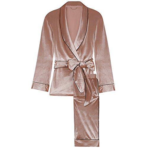 signora da sera L della la vestiti francese della Xiaoxiaozhang stile pantaloni casa velluto Abito lunghe maniche casa per nuova 5tqEUtxn0w