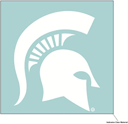 WinCraft NCAA Michigan State Spartans 4x4 Perfect Cut White Decal One Size Team Color