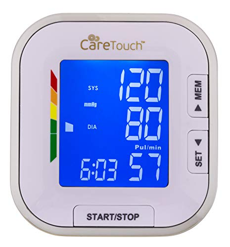 "41%2BPAIYI3cL - Care Touch Fully Automatic Wrist Blood Pressure Cuff Monitor - Platinum Series, 5.5"" - 8.5"" Cuff Size- Batteries Included"