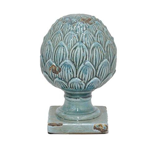 Cotta Terra Finial (Benzara HRT-77262 Magnificent Terracotta Finial Décor, Blue)