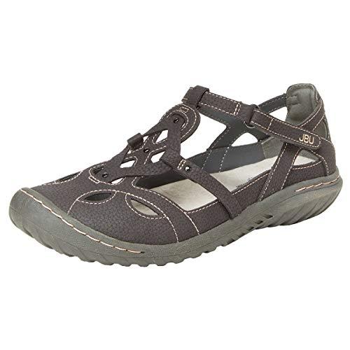 JBU by Jambu Ladies' Sydney Sandal/Flat Sandals for Women (7.5 M US, Charcoal/Gray)
