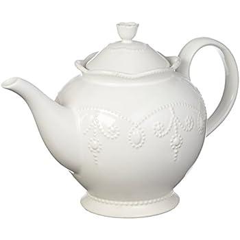 Lenox French Perle Teapot, White