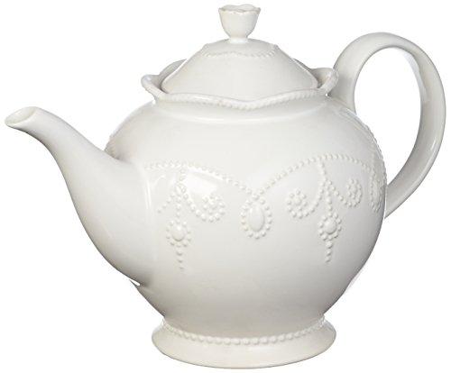 Lenox French Perle Teapot, White French Pot