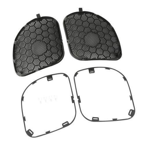 TCT-MT Grill Mesh Covers Fairing Speaker Front Grilles Trim Fit Harley Road Glide FLTRX 2015-2019 FLTRU CVO Ultra FLTRUSE Special FLTRXS Black 17