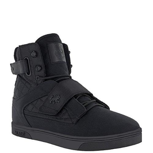 Vlado Schoeiselmensen Van Atlas 2 Canvas & Denim Marine / Bruine Hoge Top Sneakers Zwarte Mono