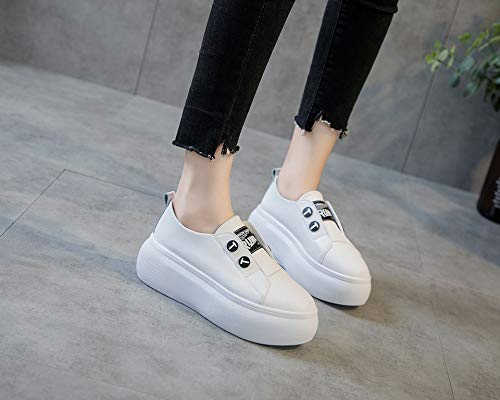 Leather White Shoes Thirty Shock Wild Sports White KPHY Joker Small Absorption Seven Running Leisure 58pwP