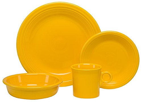 Homer Laughlin 831-342 4 Piece Place Setting Dinnerware, Daffodil