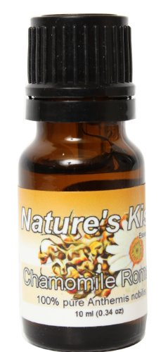 Nature's Kiss 100-Percent Pure Extremely Therapeutic Grade Chamomile Roman Essential Oil, 0.34-Ounce
